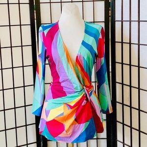 Diane von Furstenberg Pucci Print Silk Blouse 6